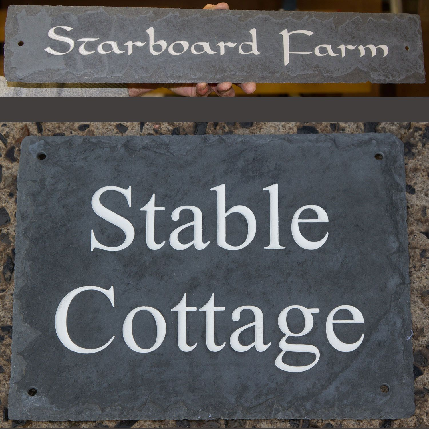 Online Sign Maker |Rustic Slate House Signs